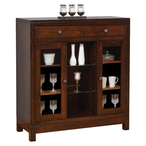 Amish Kitchen Furniture Hampton Collection Small China Cabinet Amish Crafted