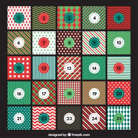 design advent calendar advent calendar with abstract designs vector free download