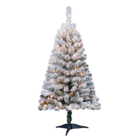 walmart flockedchristmastrees time pre lit 4 greenfield flocked pine green artificial tree clear lights