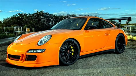 orange porsche 911 porsche 911 gt3 tuning orange sportcar wallpaper