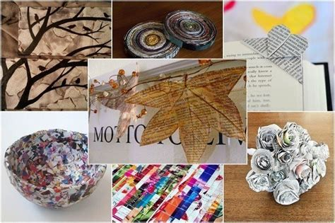 Handmade Creative Things - 18 creative things to do with newspapers