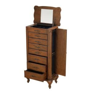 home decorators jewelry armoire home decorators collection provence chestnut jewelry