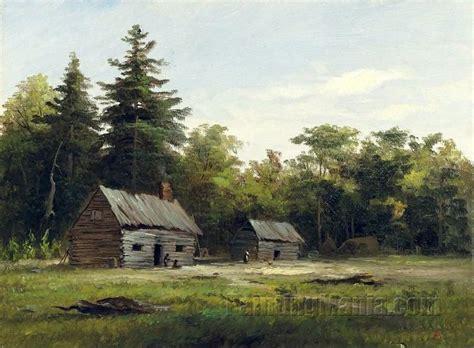 Woodland Cabin by Woodland Cabin Albert Bierstadt Paintings