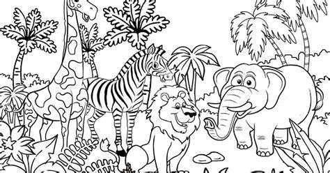 gambar haiwan kartun hitam putih