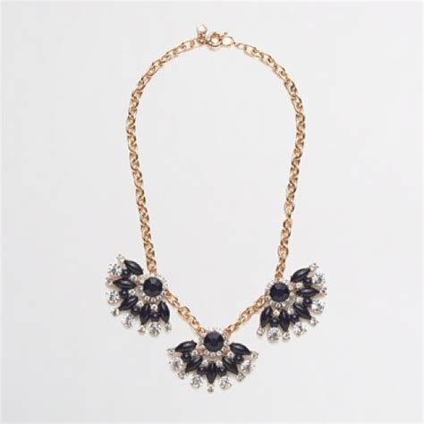 Guccis Necklace For Fans Of Flipper by 27 J Crew Jewelry Jcrew Navy Fan Necklace