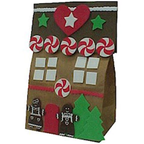 Gingerbread House Paper Craft - paper bag gingerbread house familycorner 174