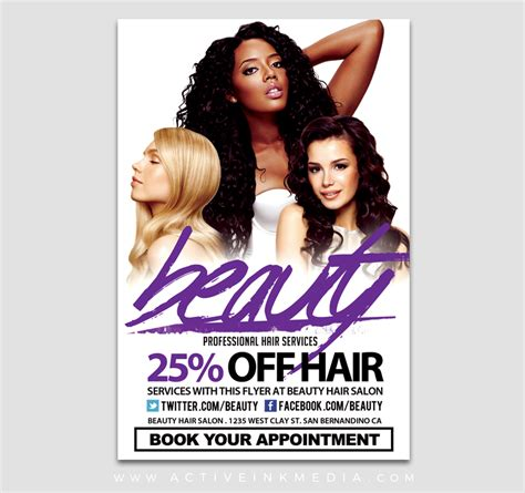 Hair Salon Beauty Stylist Flyer Template Active Ink Media Hair Salon Newspaper Ad Templates