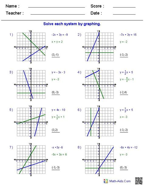 pattern variables pdf solving two variable systems of equations by graphing