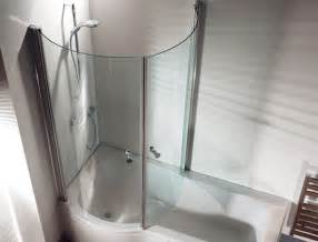 Baths Or Showers Curved Return Screen For P Shaped Shower Bath Baths