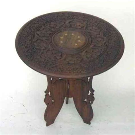 wild orchid home decor woodland imports nau sh115 round carved wooden coffee table furniture at wildorchidquilts net