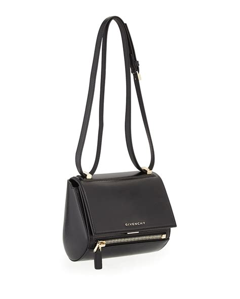 Givenci Mini givenchy pandora mini leather shoulder bag in black lyst