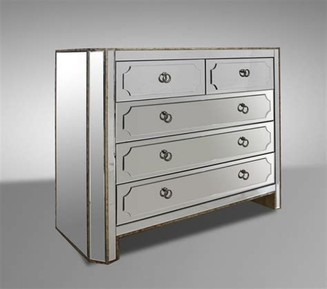 dawson contemporary mirrored dresser