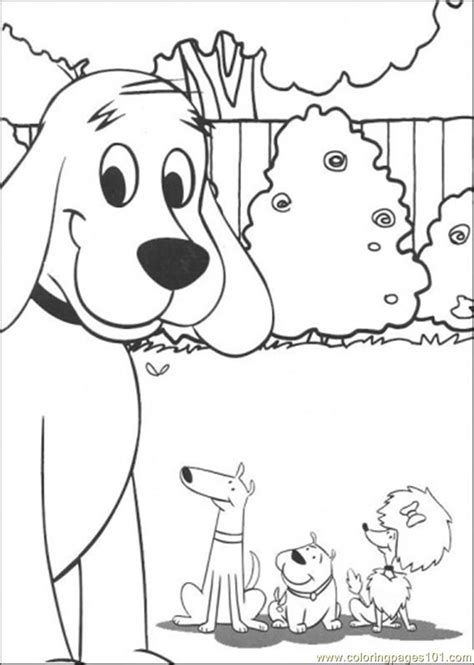 clifford and friends together coloring page free