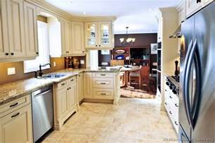 Antique White Kitchen Cabinet Kitchen Designs With Colored Cabinets Pictures Of Kitchens Traditional White Antique