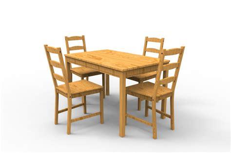 Jokkmokk Table by Jokkmokk Table With Chairs Step Iges 3d Cad