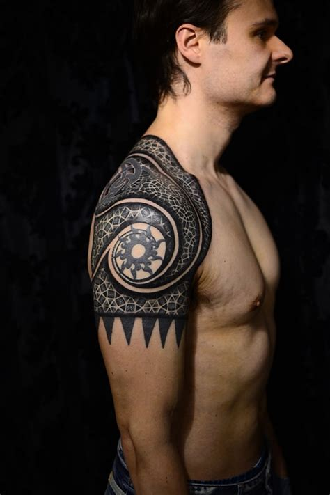 amazing shoulder geometric tattoos for men tattoos for men