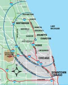 Map Of Chicago Area Airports by Chicago S North Shore Cvb Maps Amp Transit