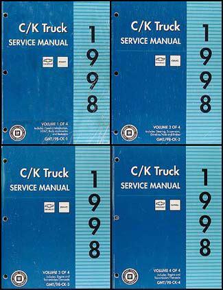 service and repair manuals 1998 chevrolet tahoe electronic toll collection 1998 c k 1500 3500 repair shop manual set pickup suburban tahoe yukon