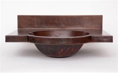 Copper wall mount round bath sink by soluna copper sinks online
