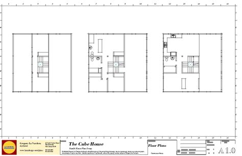 cube house floor plans modern house plans by gregory la vardera architect 0380