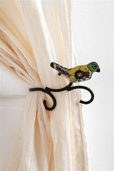 Ceramic Bird Curtain Tie Back There Is No Place Like