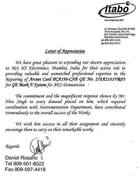 appreciation letter sle for service appreciation letter for service provider 28 images