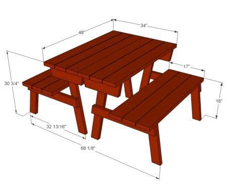 ana white picnic table bench ana white build a picnic table that converts to benches