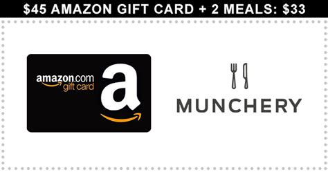Munchery Gift Card - 45 amazon gift card 2 meals 33