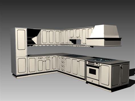 small one wall kitchen free 3d model max obj 3ds fbx stl classic l kitchen design 3d model 3dsmax 3ds autocad files