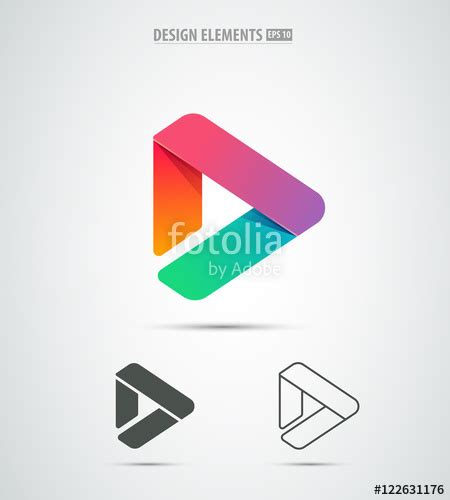 icon design in android quot vector play icon video application icon design template