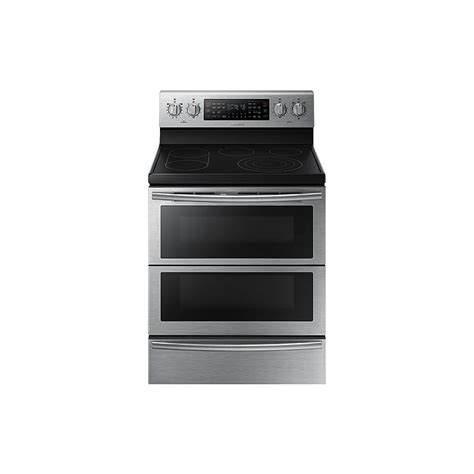 Door Range by Samsung 5 9 Cu Ft Freestanding Flex Duo Electric Range