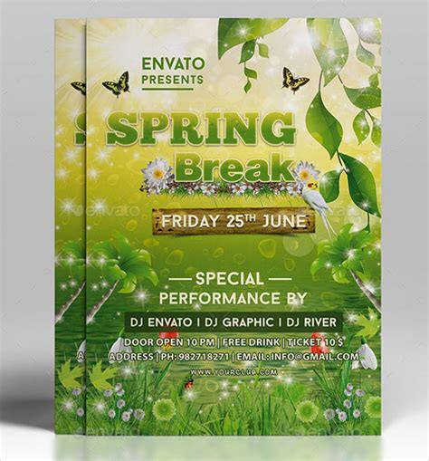spring flyer template 20 download in vector eps psd