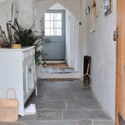 Country Cottage Flooring Hallway With Flagstone Floor Modern Country Cottage