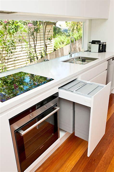designer kitchen bins kitchen design idea hide pull out trash bins in your