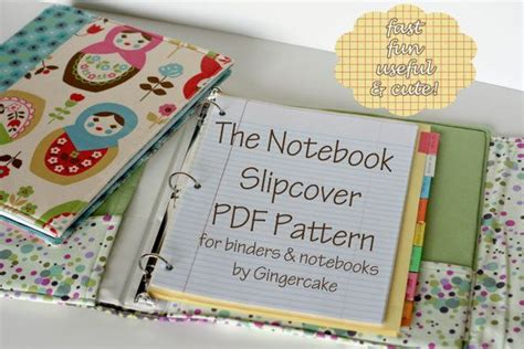 notebook slipcover pattern notebook binder cover sewing pattern a pdf pattern cover