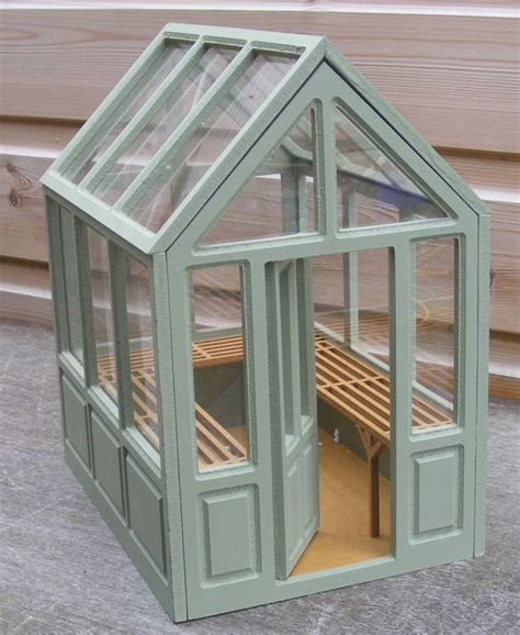 dollhouse greenhouse 1 12 scale dolls house miniature flat pack unpainted