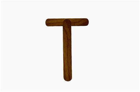 letter t from wood free stock photo