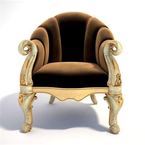 Balmer B 4001 Gold Original chair armchair 3d model