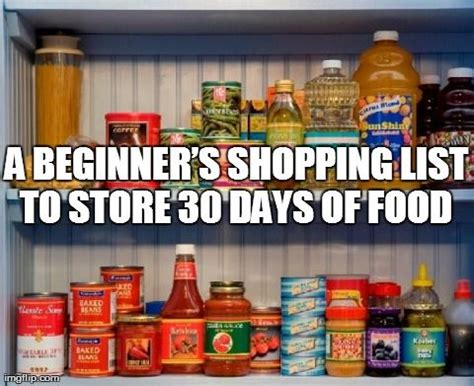 Emergency Food Pantry List by Survival Food List Food Storage And Recipes