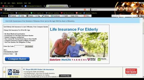 seniors house insurance life insurance for seniors over 75 years old people youtube