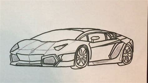 Lamborghini Drawing by How To Draw A Lamborghini Youtube