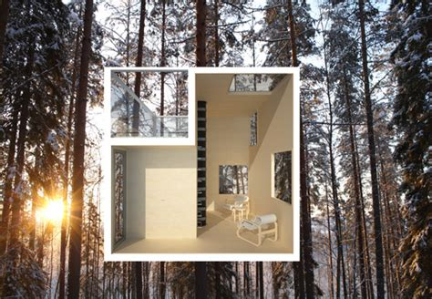 tree hotel sweden harads building e architect the mirrorcube tree hotel openbuildings