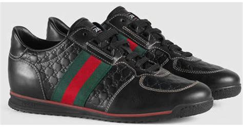 Gucci Up And For by Lyst Gucci Sl73 Lace Up Sneaker In Black For