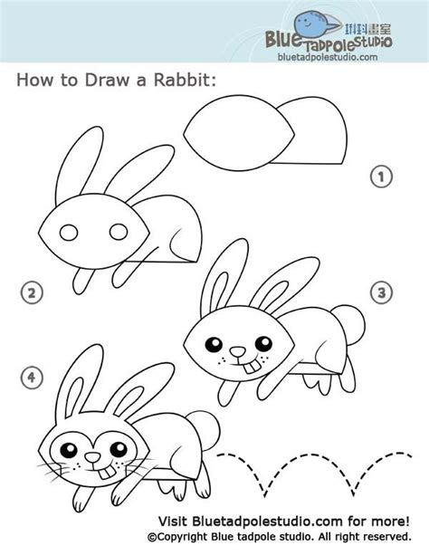 how to draw a doodle bunny how to draw a bunny rabbit children how to draw