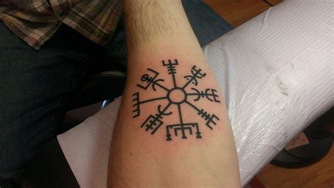 vegvisir tattoo new tattoo of a vegvisir an ancient