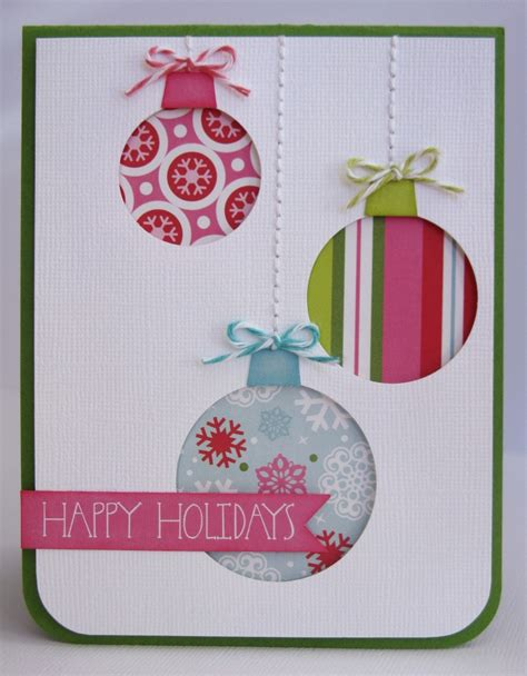 card echo park happy holidays ornament card by mendi
