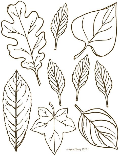Printable Leaf Art | autumn leaves free printables clip art riscos