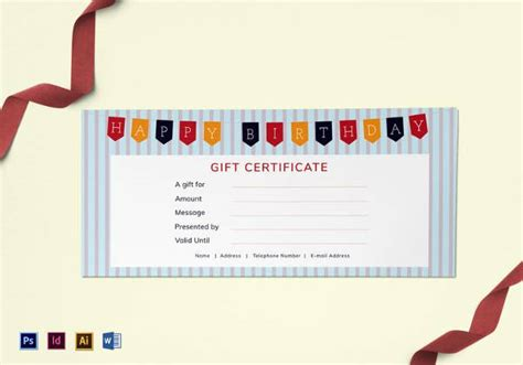 happy birthday certificate templates best gift certificate templates 38 free word pdf