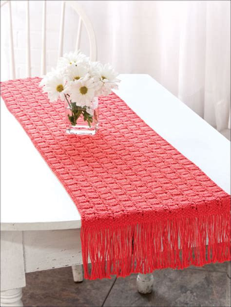free knitting patterns for table runners free table treatment knitting patterns garden