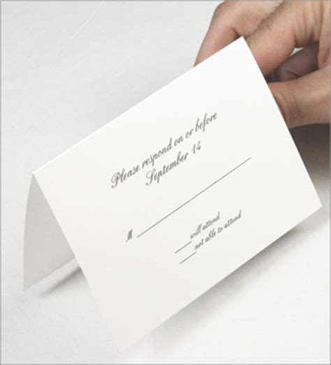blank rsvp card template wedding response cards exclusive printable templates